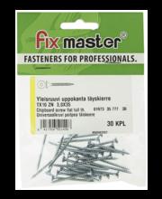 Fixmaster universaalkruvi, peitpea, TX10 ZN, 3,0 x 35 mm, 30 tk