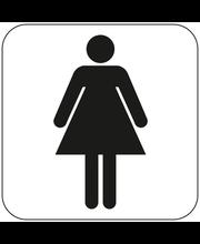 Habo naiste tualettruumi silt, 80 x 80 mm