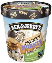 Piimavaba jäätis Chunky Monkey, 500ml