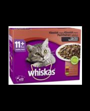 Whiskas 11+ klassikaline täissöödavalik kassidele kastmes, 12...