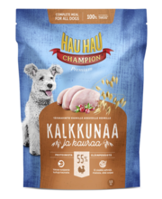 Hau-Hau Champion täissööt koertele kalkuniliha ja kaeraga, 1,5 kg