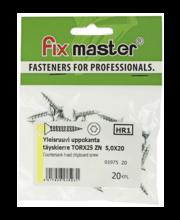 Fixmaster universaalkruvi, peitpea, TX25 ZN, 5,0 x 20 mm, 20 tk