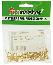 Fixmaster puidukruvi, peitpea, 3,0 x 20 mm, 50 tk