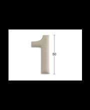 Habo uksenumber 1, 50 mm, roostevaba teras