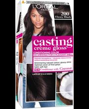 Poolpüsivärv Casting Crème Gloss 200 Ebony Black