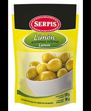 Rohelised oliivid sidrunitäidisega 170/90 g