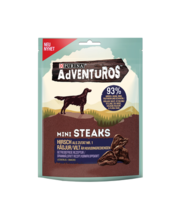 Adventuros Mini Steaks koerte maiuspalad, 70g