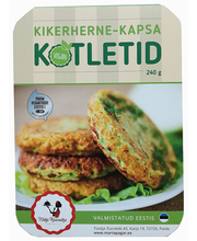 Kikerherne-kapsa kotletid 240 g Vegan