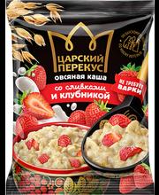 Kiirkaerahelbepuder maasikatega, koorega 35 g