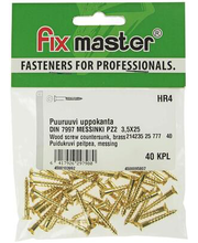 Fixmaster puidukruvi, peitpea, 3,5 x 25 mm, 40 tk
