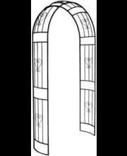 Roosikaar House, 120 × 35 × 230 cm, metall, must