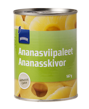 Ananassiviilud omas mahlas 567/340 g