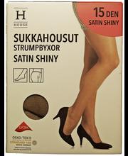 Naiste sukkpüksid Satin Shiny 15 den must, 44-48