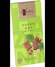 Super Nut mahe riisipiimašokolaad metspähklitega, 80 g