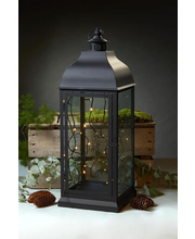 Metall-latern House, 70 cm, must