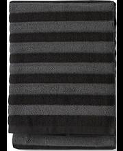 Froteerätik Reiluraita 70x150 cm, hall/must