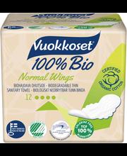 Vuokkoset Bio Normal hügieeniside 12 tk