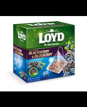 Puuviljatee Lloyd Pyramids põldmari ja mustikas 40g