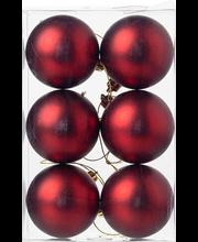 Jõulukuul 6 cm, tumepunane  matt