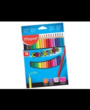 Värvipliiats Color'Peps18 tk