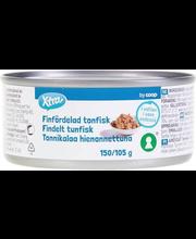 Purustatud tuunikala vees 150/105 g