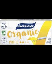 Vuokkoset Organic Mini tampoonid 16 tk