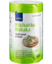 Rainbow hapukoore-sibulamaitselised riisivahvlid 120 g