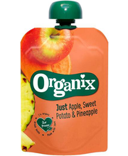 Organix õuna-bataadi-ananassi püree 100 g, alates 6-elukuust