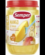 Semper mango-banaani püree 190 g, alates 5-elukuust