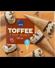 Toffejäätised, 6 tk