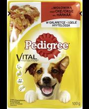 Pedigree täissööt koertele tarrendis härjalihaga, 100 g