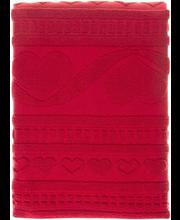 Froteerätik Lovely 70x140 cm, punane 100 % puuvill