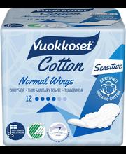 Vuokkoset Cotton Normal hügieeniside 12 tk