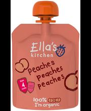 Ella's Kitchen virsikupüree 70 g, öko, alates 4-elukuust