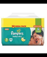 Pampers teipmähkmed Baby Dry 3 Mega Pack, 6 – 10 kg, 100 tk