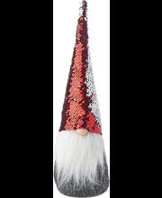 Päkapikk 40 cm, glitter hall/punane