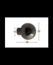 Habo Simon mööblinupp, 32 mm, must nikkel