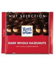 Ritter Sport tume šokolaad tervete metspähklitega 100g