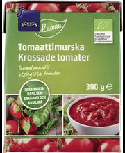 Hakitud tomatid pune ja basiilikuga, 390 g mahe
