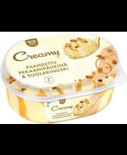 Ingman Creamy toffee-koorejäätis, soolane toffee-kaste, karam...