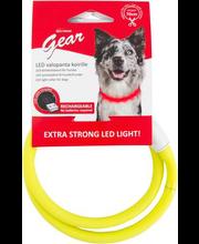Reguleeritav LED-valgusega kaelarihm 70 cm
