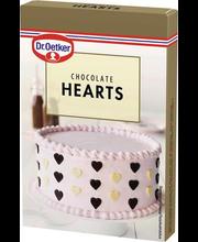 DR.Oetker sokolaadisüdamed tumedast ja valgest shokolaadist 45g
