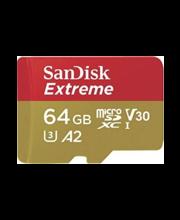 MicroSD-mälukaart SanDisk Extreme, 64 GB 4K