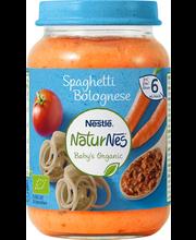 Nestle naturnes spaghetti bolognese mahe 190g, alates 6-elukuust
