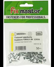 Fixmaster universaalkruvi, peitpea, TX15 ZN, 3,5 x 16 mm, 50 tk