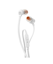 Nööpkõrvaklapid mikrofoniga T110, valge