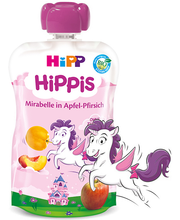 HIPP Hippis õuna-virsikupüree mirabelle ploomiga BIO 1a