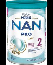 Nestle Nan Pro 2 jätkupiimasegu 400 g , alates 6-elukuust