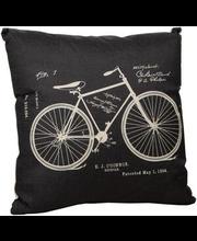 Dekoratiivpadi Bike 45 x 45 cm, valge, 100% polüester