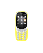 Mobiiltelefon Nokia 3310, Dual Sim, 3G, kollane